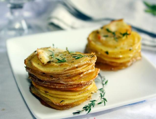 Easy to Make Roasted Potato Stacks