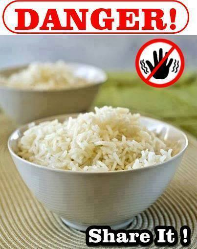 Do not Reheat Rice from a Restaurant