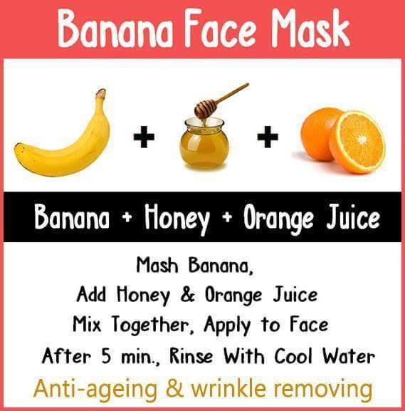 Banana Face Mask with Anti-Ageing & Wrinkle Removing