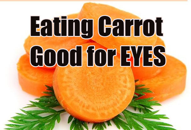 Eating Carrot Helps Circulation of Blood in the Eyes