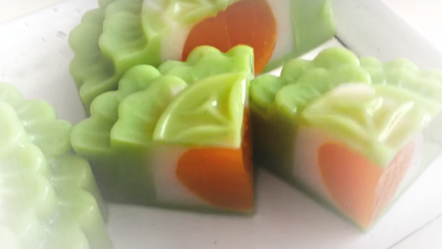How to make Pandan Jelly Mooncake